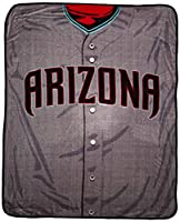 "Looks like an on-field MLB jersey in a super soft and large version Soft and warm raschel fabric; oversized; decorative binding around all edges Measures 50""W x 60""L Machine wash cold separately using delicate cycle and mild detergent. Do not bleach...."