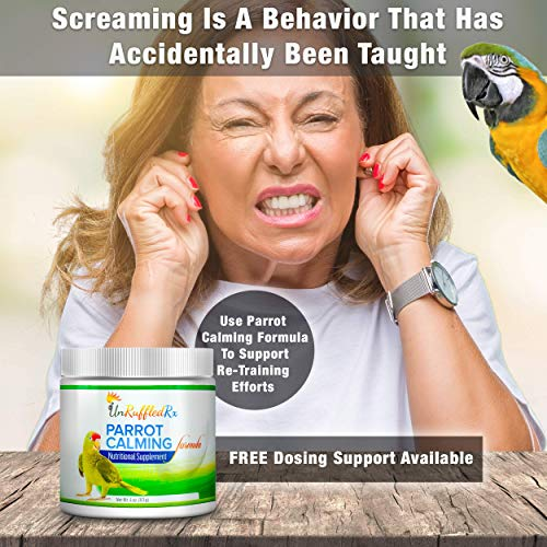 Bird | UnRuffledRx Parrot Calming Formula Avian Calming Supplement – L-theanine Calms Anxiety Related Feather Plucking | 194 Doses, Gym exercise ab workouts - shap2.com