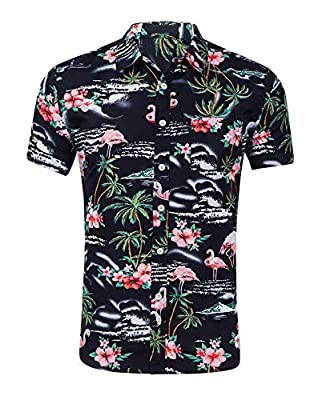 Machine Wash Cold, Tumble Dry Low,lightweight, comfortable, and smooth to the touch This Cotton Hawaiian shirt takes it easy with a relaxed fit, a vibrant allover print, and short sleeves that can be cuffed for a vacation-ready look Relaxed fit: Cut ...