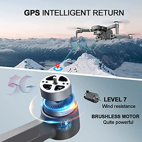 Product Image 3: 4DRC F4 GPS Drone with 4K HD Camera,2-Axis gimbal Anti-shake Camera, RC quadcopter for Adults, 5G FPV Live Video,GPS Return Home,,Brushless Motor,Follow Me, 60 Minutes Flight Time, Carrying Case