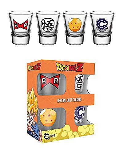 GB eye Dragon Ball Z Symbol Gläserset Shot Glasses 4tlg in Geschenkbox 5cl
