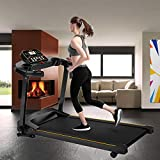 Under-Desk Walking Treadmill LAY Folding Electric LCD Display Motorized Running Treadmill High Horsepower Shock Absorption Treadmills 【U.S Shipping】 (B)
