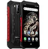 Ulefone Armor X5 4G Télephone Portable Incassable Debloqué, MTK6763 Octa-Core 3Go de RAM 32Go de ROM, IP68 Smartphone Résistant Etanche Antichoc Android 9.0, Dual SIM, Batterie 5000 mAh, NFC Rouge