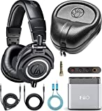 Audio-Technica ATH-M50x Closed Back Headphones for Studio Mixing and Personal Listening Bundle with...