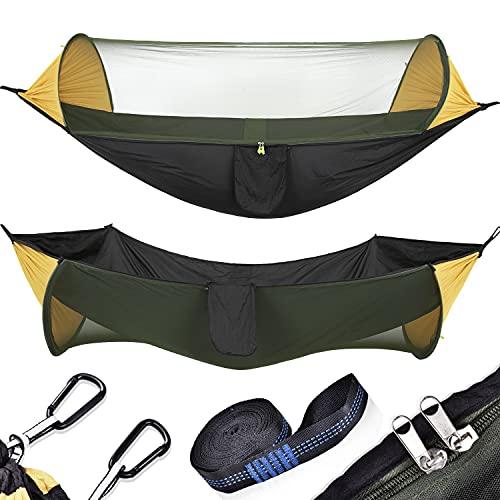 OTraki Hamac avec Moustiquaire Sangle 2 Personnes Hamac Camping 200 kg...