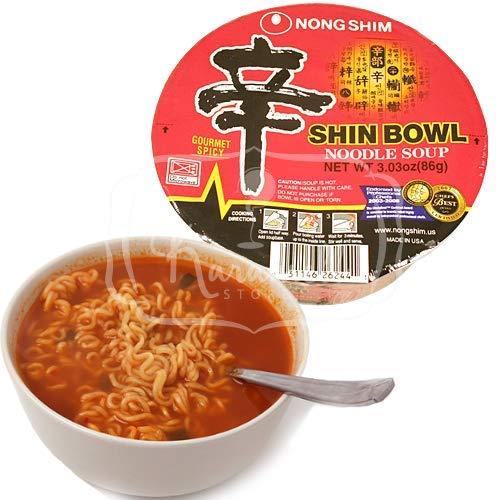 Nongshim shin bowl noodle soup - macarrão instantâneo - importado da coreia