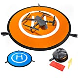 Drone Landing Pad by IbD-Tech, Waterproof, 30'' 76cm, Universal Landing Pad ,Pop Out, Fast-fold, Double Sided, Quadcopter Helipad for RC Drones Helicopter Compatible with DJI Spark Mavic Pro Phantom 2/3/4 Pro Inspire 2/1 3DR Solo Fimi x8 and any drone with a wingspan of less than 30' or 76cm.