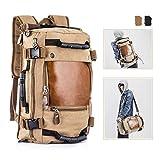 Overmont 35L Sac à Dos du Style Vintage Multifonctionnel Portable Sac à Main l'ouveryure et Fermeture zippée en...