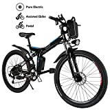 Yiilove 26'' Electric Bicycle Electric Mountain Bike for Adult with 36V Lithium-Ion Battery 250W...