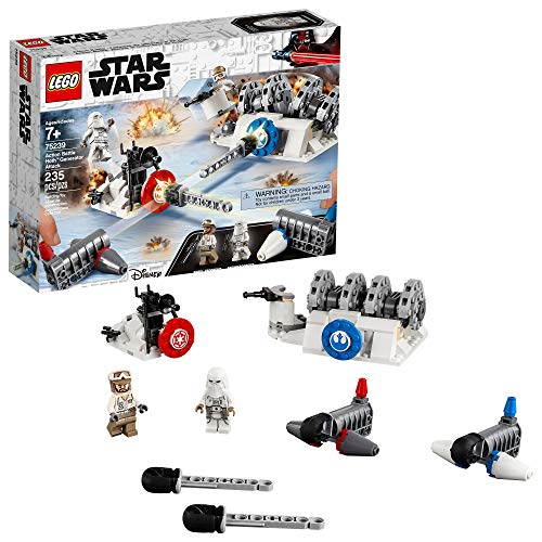 LEGO Star Wars: The Empire Strikes Back Action Battle Hoth Generator Attack 75239 Building Kit (235 Pieces)