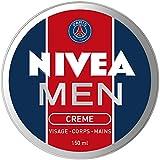 NIVEA MEN Crème Visage - Corps - Mains (1 x 150 ml), crème multi-usages au parfum masculin & à la texture non grasse, soin hydratant 3-en-1 édition limitée PSG