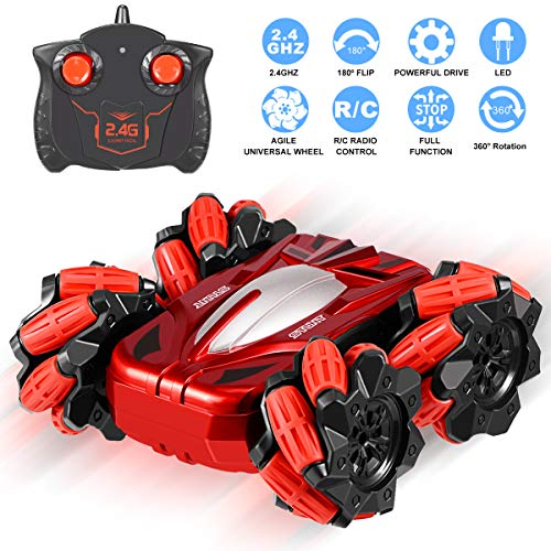 Selieve RC Cars Toys for 4-8 Year Old Boys, High Speed 2.4Ghz Remote Control Car 4WD Double Sided Driving 360° Rotating &180° Flipping, Gifts for 3 -12 Year Old Boys Girls