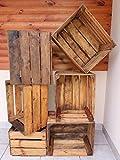 2, 3, 4, 6, 12, 18, 24 caisses en Bois – caisses à Fruits/Pommes – Vieilles boîtes – vin – décoration d'intérieur Vintage nettoyée.