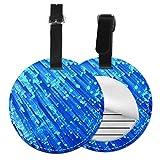 Etiquetas para Equipaje Bolso ID Tag Viaje Bolso De La Maleta Identifier Las Etiquetas Maletas Viaje Luggage ID Tag para Maletas Equipaje Cable de Fibra óptica Azul