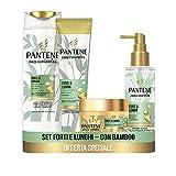 Pantene Pro-V Miracles Strong & Long, Set con champú anticaída 225 ml, acondicionador para el cabello 160 ml, ...