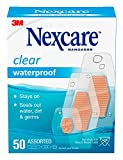 Nexcare Waterproof Bandages, Family Pack, Assorted Sizes, 50 count (Pack of 4)