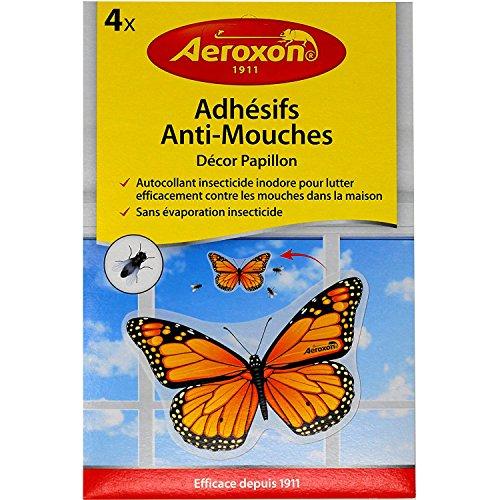 Aeroxon Insekten-Falter Esche per Mosche, 4 Pezzi, Giallo/Nero, 18x13x4 cm