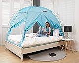 BESTEN Floorless Indoor Privacy Tent on Bed with Color Poles for Cozy...