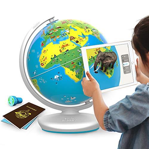 PLUGO Globe Terrestre Interactif- Jeux Educatif en Réalité Augmentée : Géographie, Culture, Multi Jeux , Quizz, Défis, Aventures…