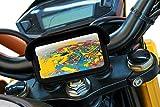 Support telephone moto avec chargeur 2.1A charge rapide coque protection visiere anti-eblouissement fixation de guidon incassable attelage de securite valable pour les smartphones jusqu'a 6.8'