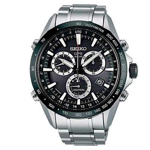 Seiko Herren-Armbanduhr Chronograph Quarz Edelstahl SSE011J1