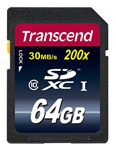 【Amazon.co.jp限定】Transcend SDXCカード 64GB Class10 (無期限保証) TS64GSDXC10E (FFP)