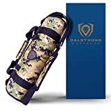 DALSTRONG - Ballistic Series Knife Roll - Premium Ballistic Nylon & Top Grain Leather Roll Bag - 22 Knife Slots - Interior and Rear Zippered Pockets - Blade Travel Storage/Case (Digital Camouflage)