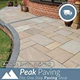 Indian Paving Autumn Brown Sandstone Flags Paving Slabs Patio Pack 5m²