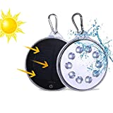 Solar Camping Light, Camping Light, LED Solar Lights, Magnetic Solar-Powered White LED Light Waterproof IP67 Protable Spotlight Hands Free with USB Charging for Home Outdoor Garden Garage Yard