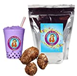Taro Boba / Bubble Tea Drink Mix Powder By Buddha Bubbles Boba 10 Ounces (283 Grams)