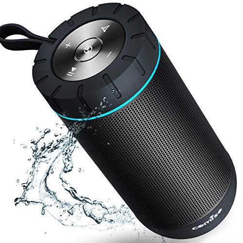 COMISO Bluetooth Speaker Waterproof IPX7 (Upgrade) 25W Wireless Portable Loud Surround Sound St…