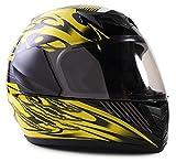 Typhoon Youth Full Face Motorcycle Helmet Kids DOT Street - Gloss Yellow (Small)