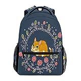 Animal Cat Mochila School Bookbag Travel Hombro Laptop Bag para Mujer para Hombre