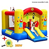 COSTWAY Aire de Jeux Gonflable de Motif...