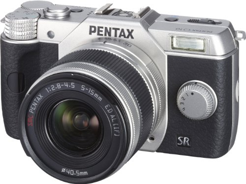 PENTAX デジタルミラーレス一眼 Q10 ズームレンズキット 標準ズーム 02 STANDARD ZOOM シルバー Q10 LENSKIT SILVER 12163