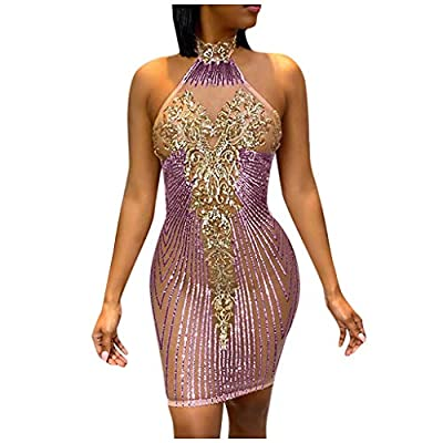Materal: Sequins&Stretch Satin Liner. The sequins will not scrape your skin and make your skin itchy. Feature: long short sleeves, sequin dress, elegant wrap, backless, bodycon dress, stretchy fit, sexy and vintage, spaghetti strap, slim fit above kn...