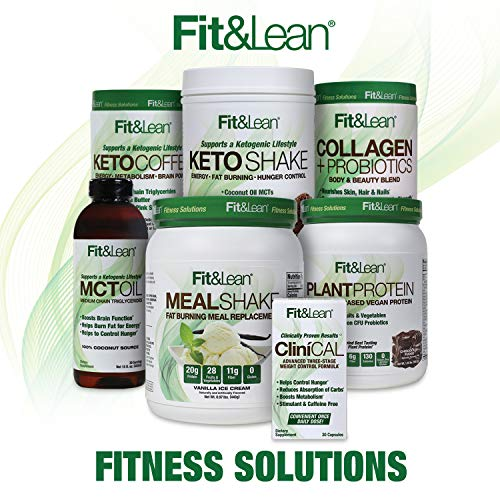 Fit & Lean Meal Shake Fat Burning Meal Replacement with Protein, Fiber, Probiotics and Organic Fruits & Vegetables and Green Tea for Weight Loss, 1lb, Chocolate, 10 Servings Per Container 7