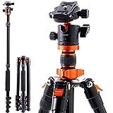 Treppiede Reflex K&F Concept Cavalletto Fotografico Portatile Alluminio Testa a Sfera 156cm con Borsa per Canon Nikon Sony Panasonic GoPro Fujifilm Kodak Camara DSLR e DV