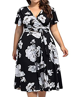 "Material: 95% Polyester+5% Spandex; very soft and comfortable fabrics, suitable for all day wearing,hand or machine washable Bust Size: 16W(43.75""); 18W(45.75""); 20W(47.75""); 22W(50.25""); 24W(52.75""),Please check with the size chart we provide about ..."
