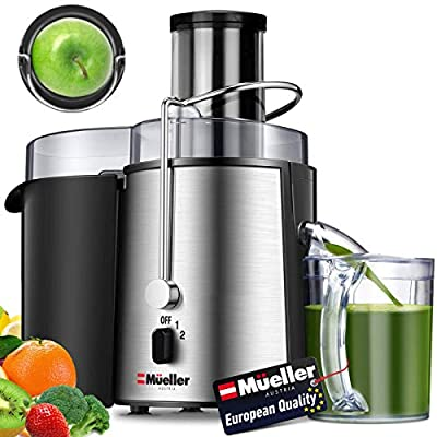 Why The Mueller Ultra Juicer – Under it's sleek modern stainless-steel design and low counter-top footprint, it packs the punch of much larger, bulkier and more expensive juicers in a fraction of the size and cost. You will be able to create a 16 oz ...
