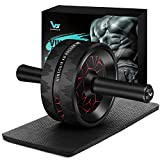 Vinsguir Ab Roller for Abs Workout, Ab Roller Wheel Exercise Equipment for Core Workout, Ab Wheel Roller for Home Gym, Ab Workout Equipment for Abdominal Exercise (Black & Red)