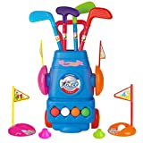 Meland Kids Golf Club Set - Toddler Golf Ball Game Play Set Sports Toys Gift for Boys Girls 2 3 4 5 6 Year Old