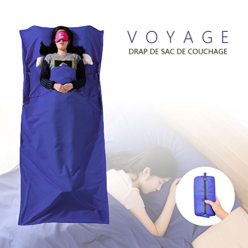 Drap de Sac De couchage, Chenci Sac De Couchage Doublure, Microfibres Sac...