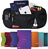 Money Belt for Travel for Men & Women - with RFID Blocking, Black, Size No Size