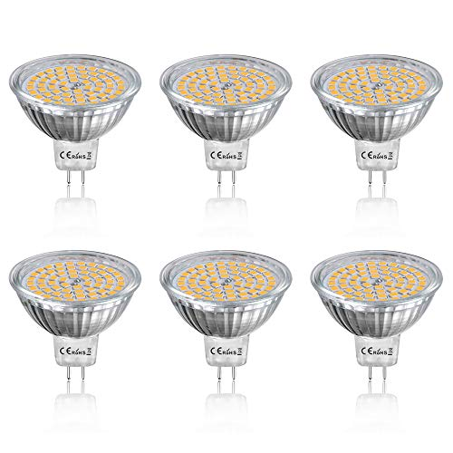 LED電球 スポットライト MR16 GU5.3口金 50W形ハロゲン相当(5W)12V 24V 電球色3000K 省エネ 超高輝度 6個入り