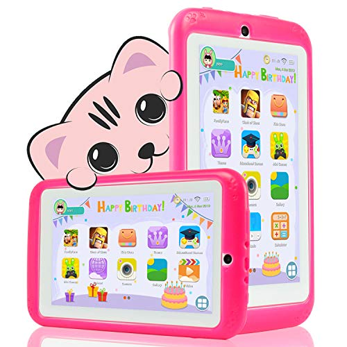 YESTEL Tablet per Bambini 7 Pollici Android 8.1 Kids Tablet e Quad Core 2 GB RAM e 32 GB Rom con...
