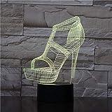 Zapatos de tacón Alto para Mujer luz Nocturna atmósfera lámpara de Mesa mesita de Noche Novia...