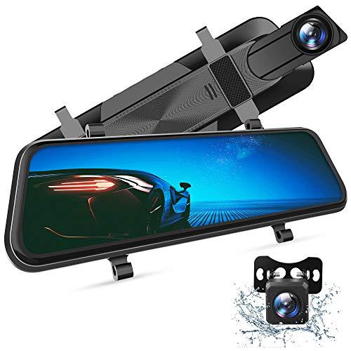 VanTop H610 Dash Cam 2.5K 10' Telecamera per Auto, Visione Notturna, Rilevamento del Movimento, Registrazione in Loop, Telecamera Posteriore Impermeabile, HDR, WDR, Monitor di Parcheggio