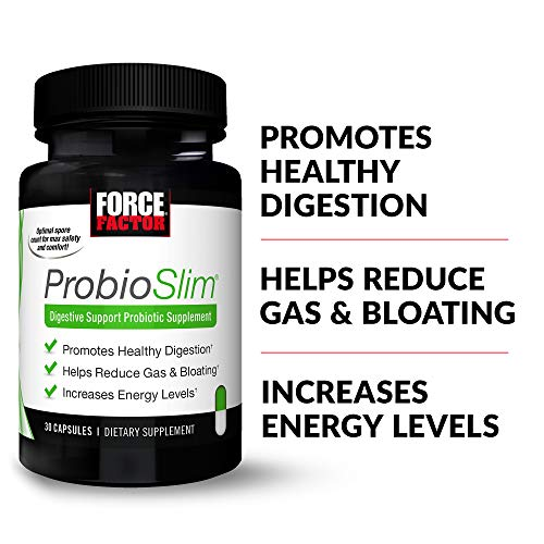 ProbioSlim Probiotic and Weight Loss Supplement for Women and Men with Probiotics, Burn Fat, Lose Weight, Reduce Gas, Bloating, Constipation, and Support Digestive Health, Force Factor, 180 Capsules 7