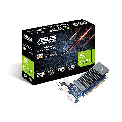 ASUS GT710-SL-2GD5 GeForce GT 710 DDR5 Scheda grafica da 2 GB con raffreddamento passivo 0 dB efficiente